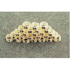 Anellini Plastica Colombi 8 mm numerati da 1-25